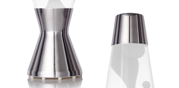 Astro lava lamp - polished base and cap