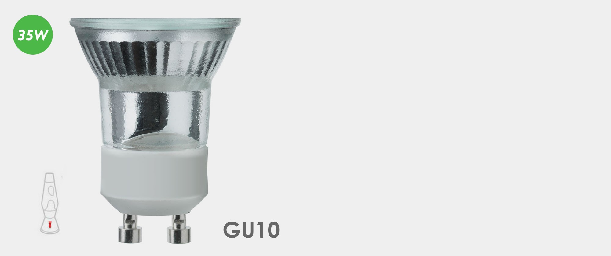 35W - Astro Lava Lamp Bulb - GU10 fitting mini halogen