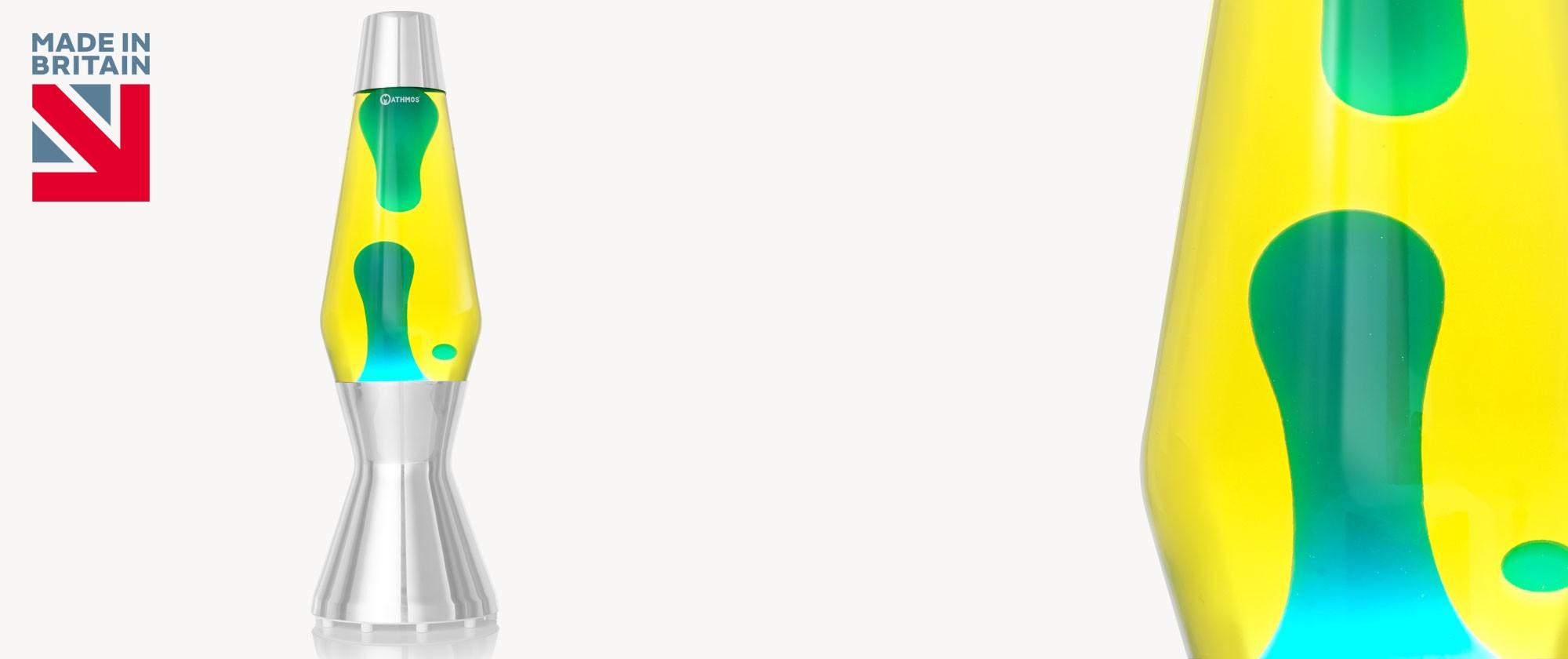 Astro lava lamp bottle Yellow-Blue