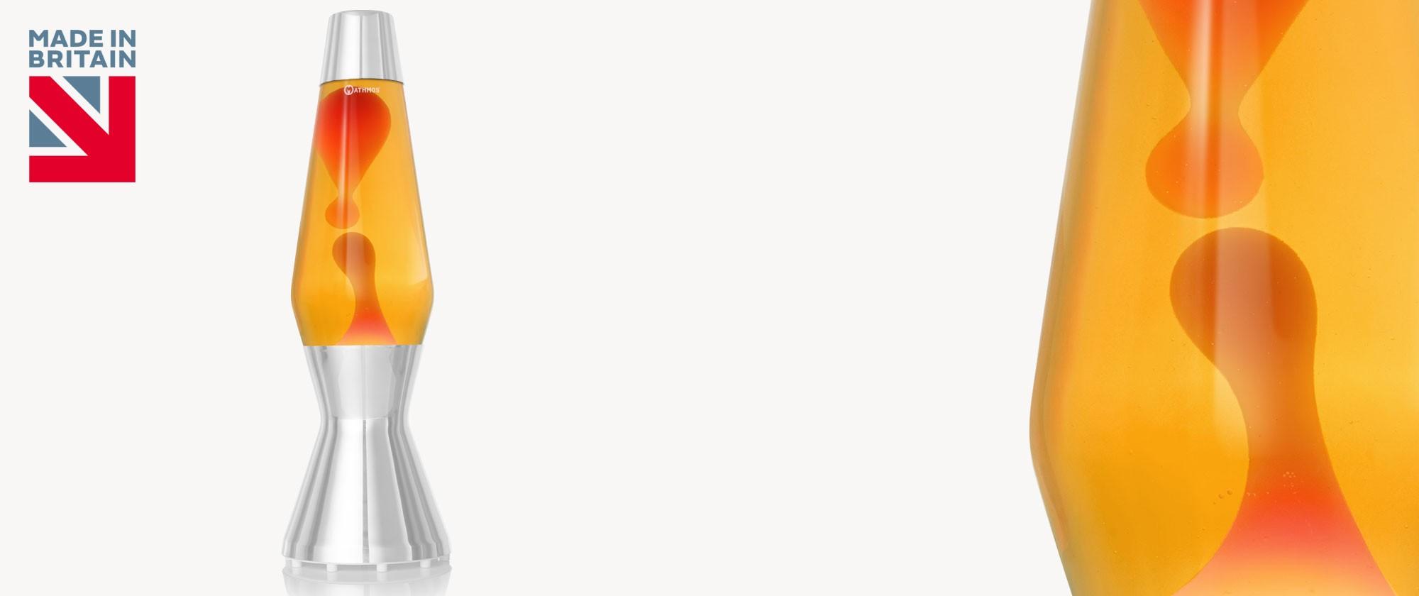 Astro lava lamp bottle Yellow-Orange