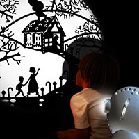 Sensory projector silver - Fairy tales 1
