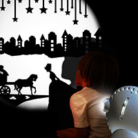 Sensory projector silver - Fairy tales 2
