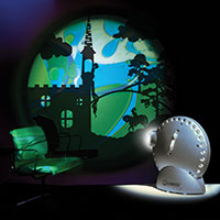 Sensory projector silver - Fairy tales 2 with lava wheel