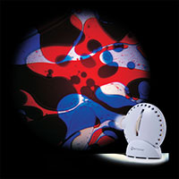 Sensory projector white blue red