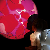 Sensory projector with child violet red