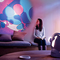 Sensory projector wellbeing violet blue