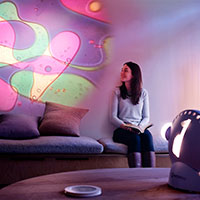 Sensory projector wellbeing violet green