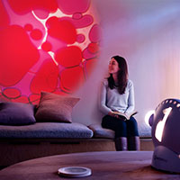 Sensory projector wellbeing violet red