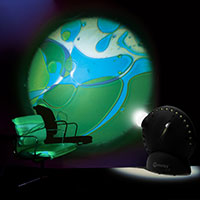 Sensory projector with chair blue green