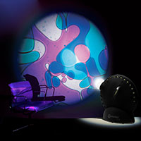Sensory projector with chair violet blue