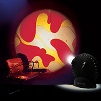 Sensory projector with chair yellow red