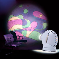 Sensory projector with chair violet green