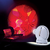 Sensory projector with chair violet red